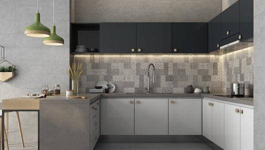 iluminacion de cocina segun los azulejos