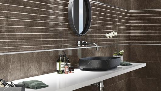 azulejos baño imitacion marmol marron