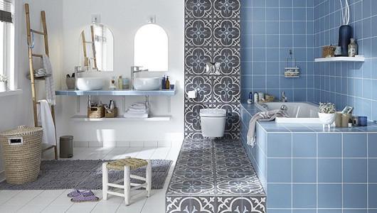 Decoraciones creativas con baldosas de baño