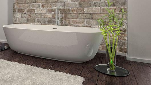 Azulejos imitación madera en los baños más elegantes