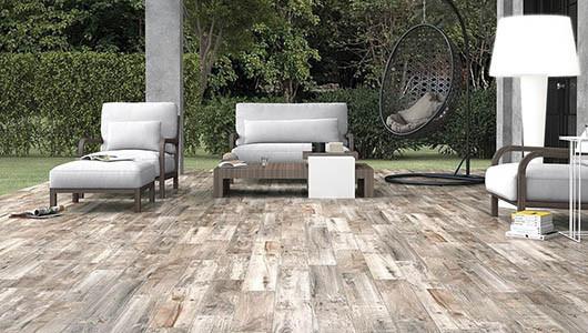 Azulejos imitación madera para exterior e interior