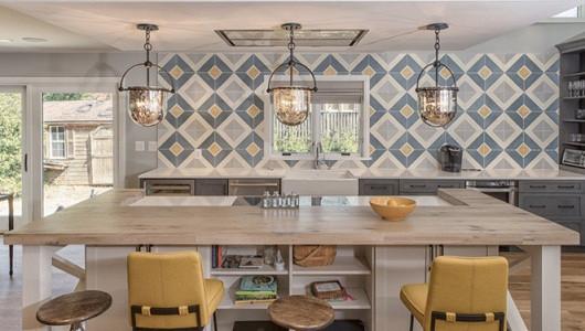 Decoraciones modernas con azulejo de cocina geométrico